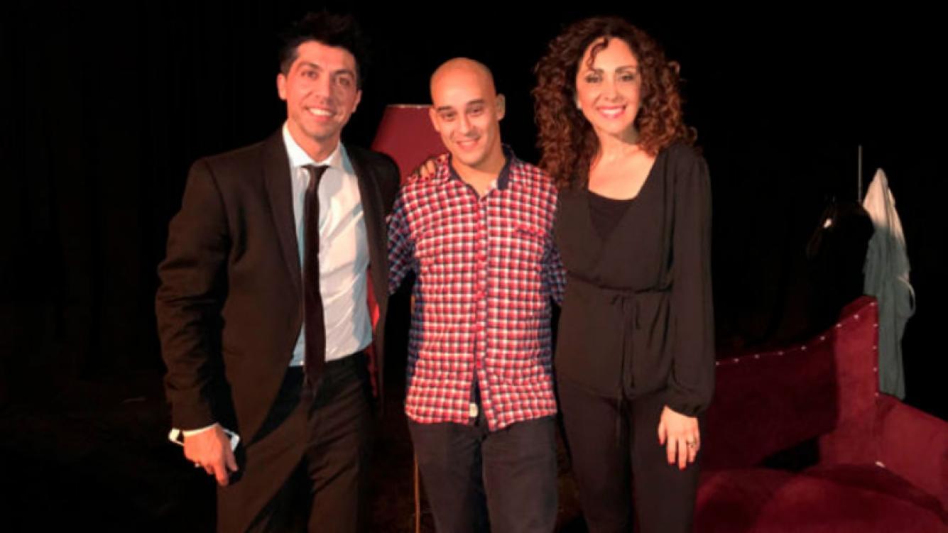 Emiliano Rella, Albertito Olmedo y Sabrina Olmedo. (Foto: Prensa)
