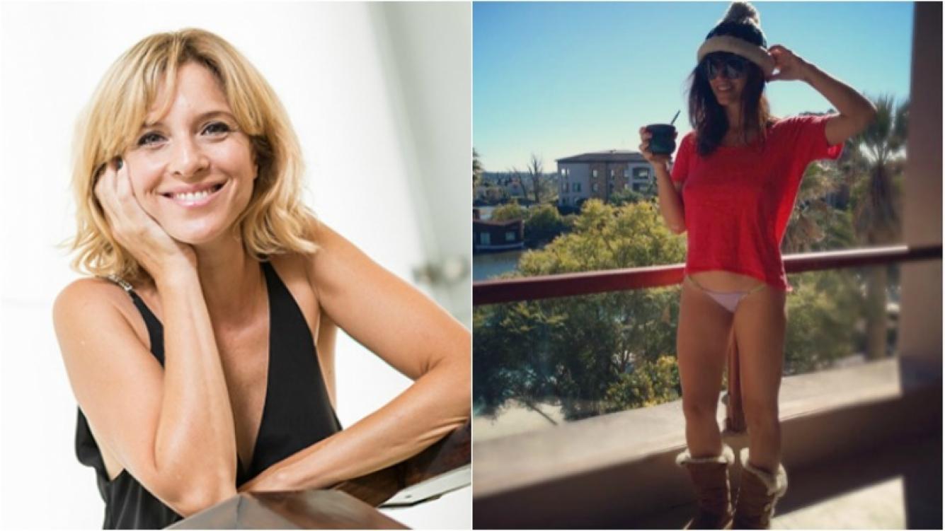 """El divertido comentario de Carla Peterson a la foto hot de Griselda Sicialini, en tanga y con gorro de lana: """"Esa colita"""". Foto: Instagram"""