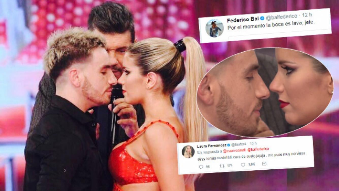 Fede Bal y Laurita Fernández, tras el pícaro juego de seducción que les propuso Tinelli en vivo