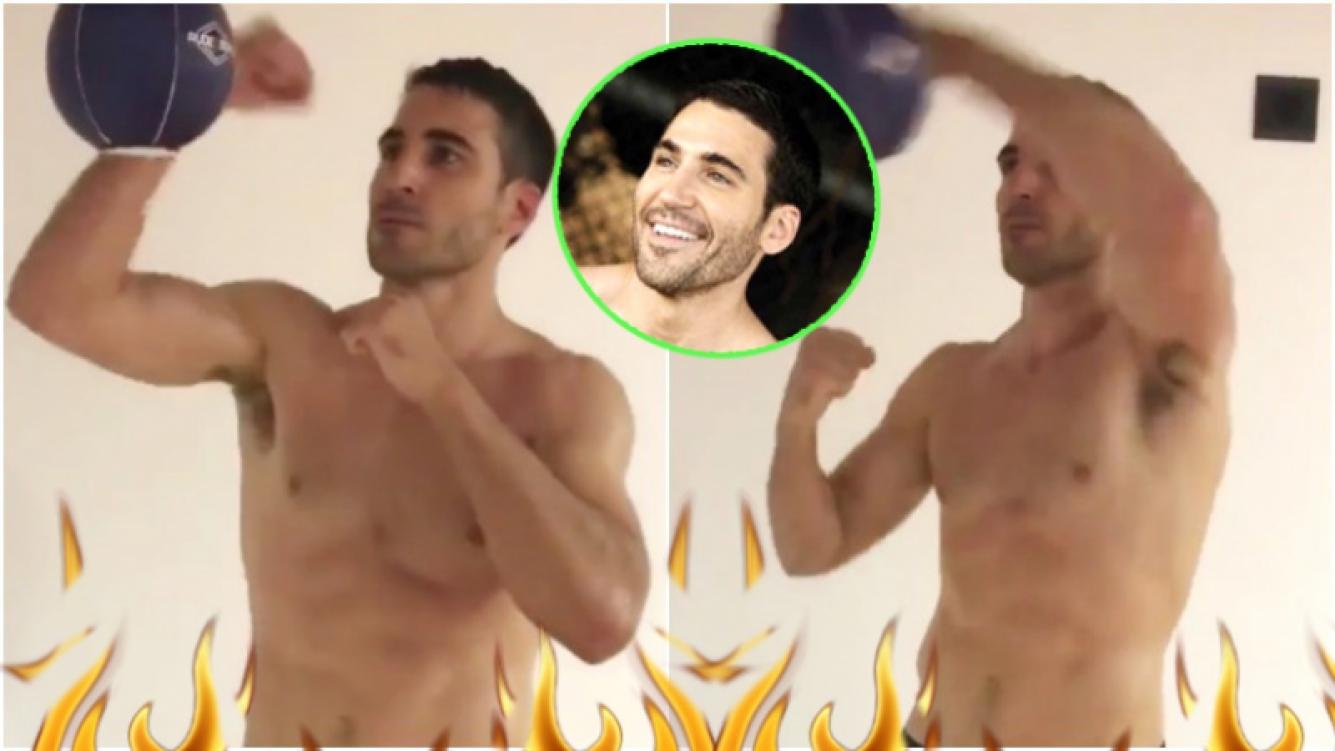 Mirá el video de Miguel Ángel Silvestre entrenando...¡sin remera! (Fotos: Captura de Instagram)