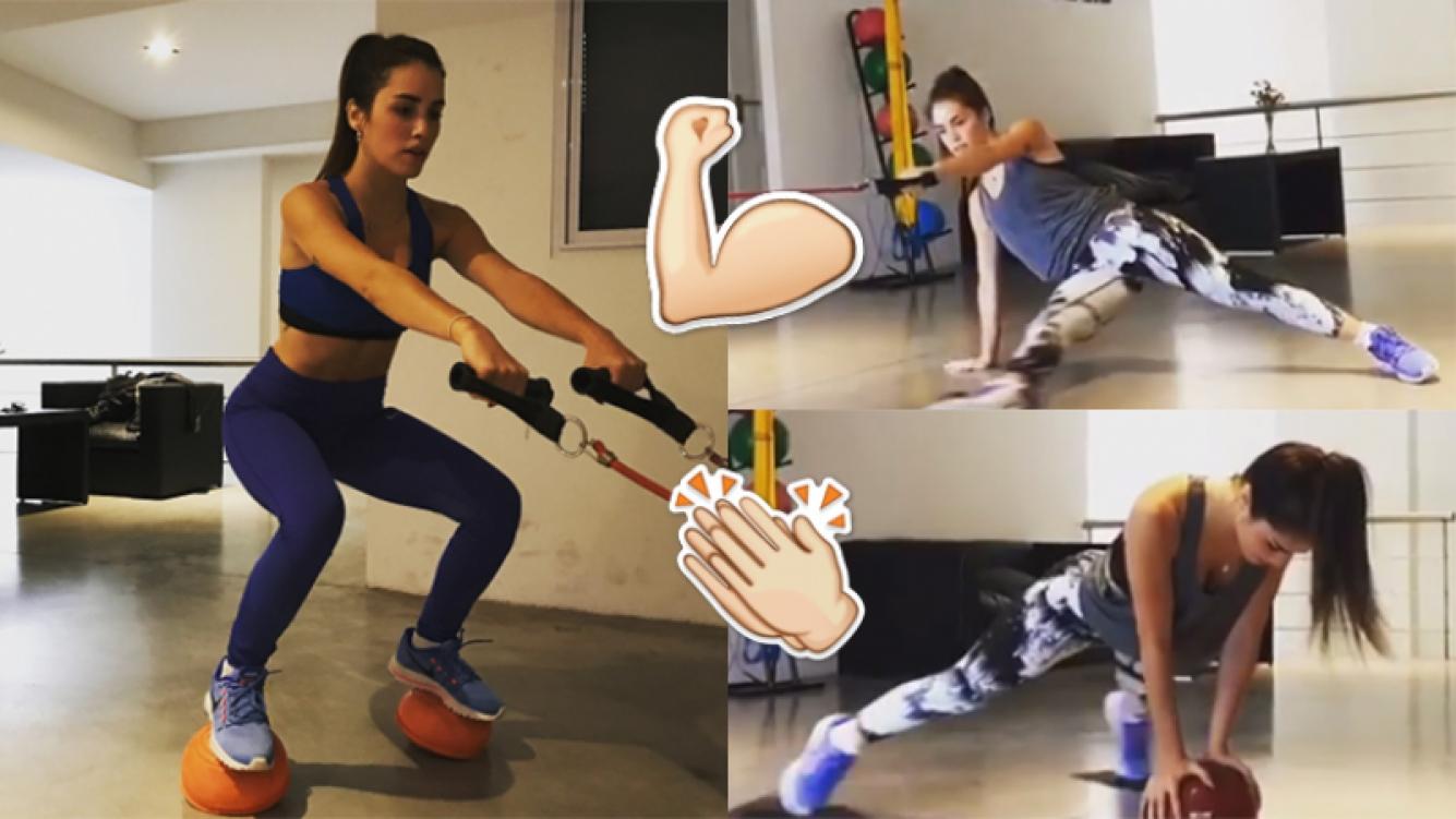Lali Espósito, sexy mientras entrena  (Fotos: Instagram).