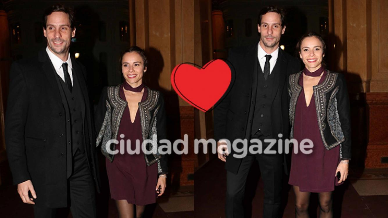 Gonzalo Valenzuela y María Gracia Omegna, enamorados en el Colón (Fotos: Movilpress).