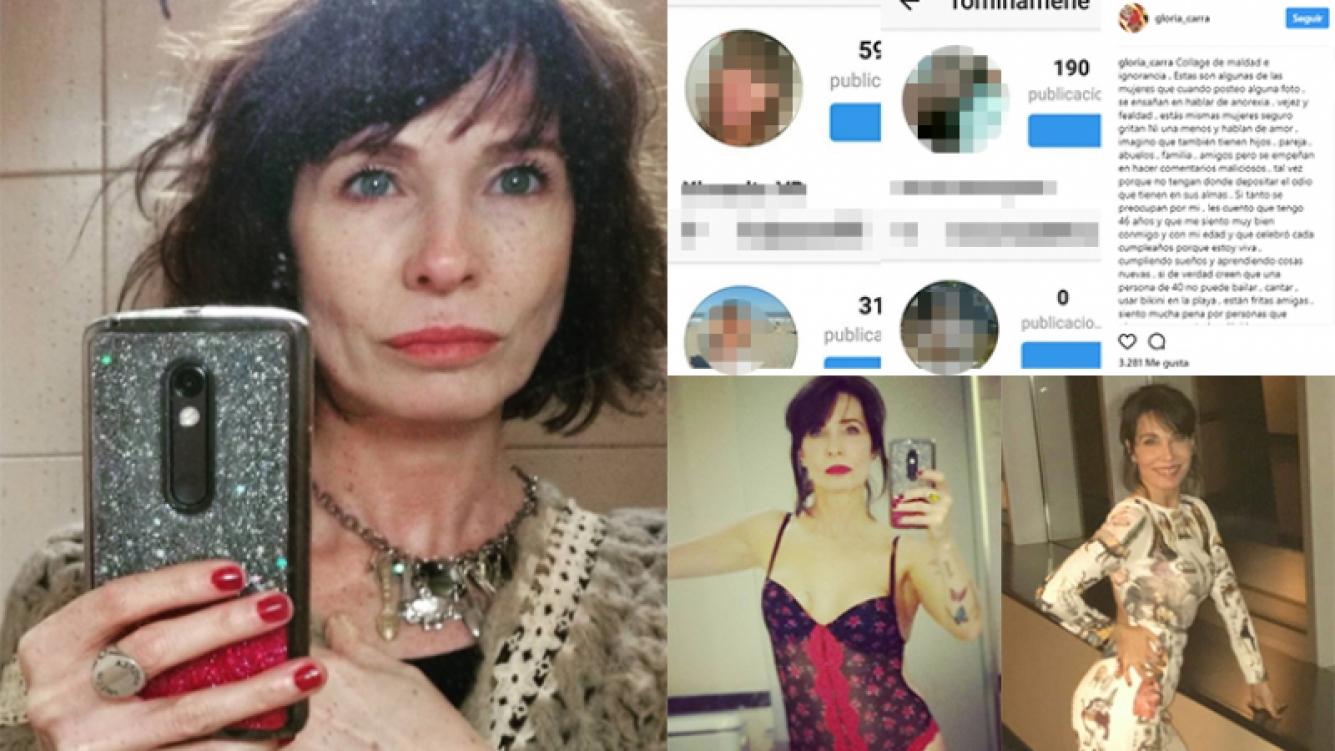 Gloria Carrá, indignada por las críticas en las redes sociales  (Fotos: Instagram).