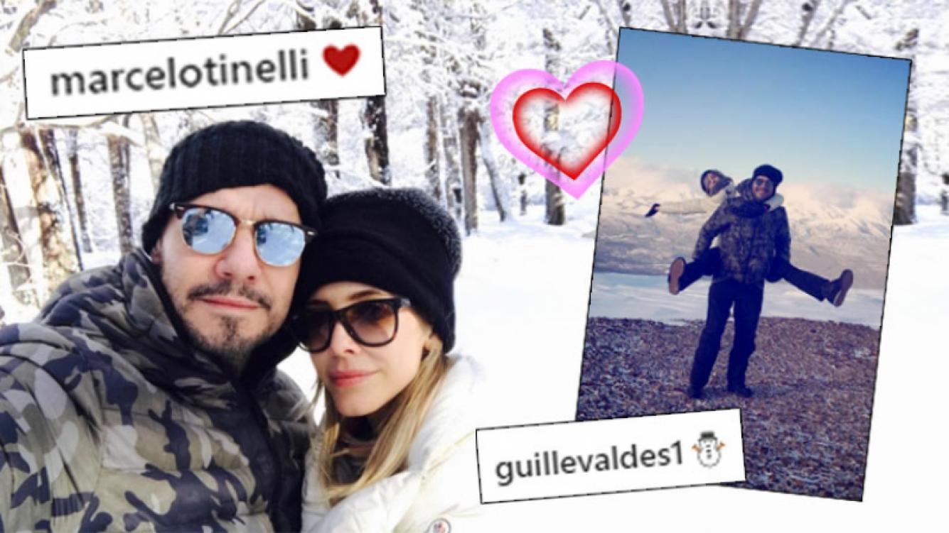 ¡Amor bajo cero! Los románticos días en la nieve de Tinelli y Guillermina