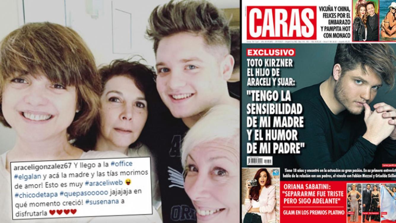 La tierna reacción de Araceli González al ver la primera tapa de revista de su hijo Toto.