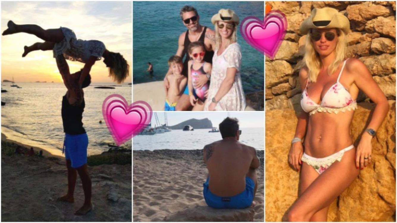 Las vacaciones familiares de Rocío Guirao Diaz y Nicolás Paladini en Ibiza (Fotos: Instagram)