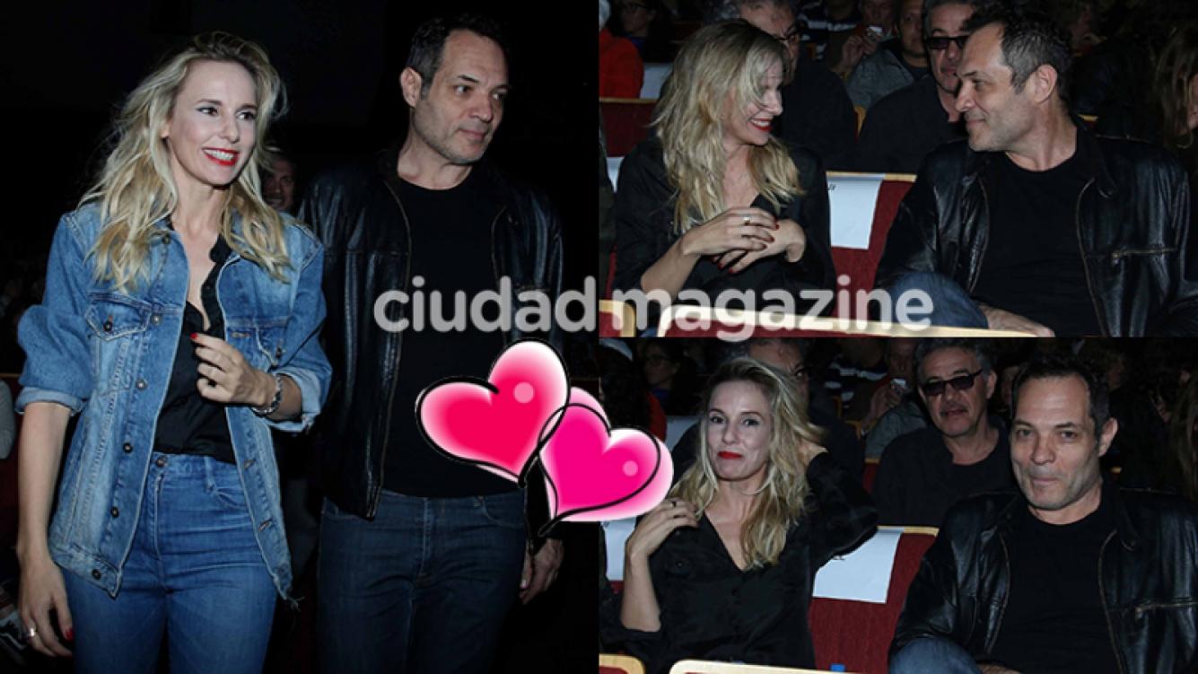Julieta Cardinali y su nuevo novio, de estreno  (Fotos: Movilpress).