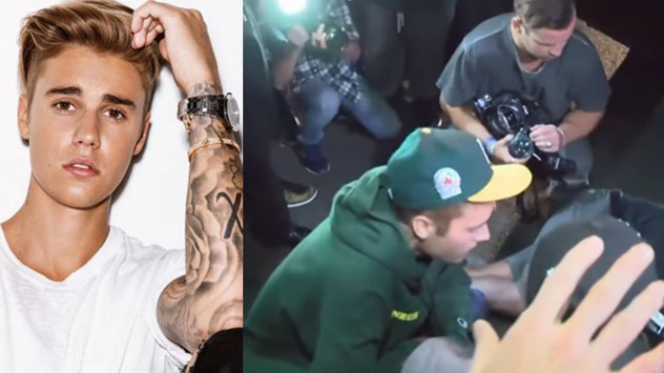 Justin Bieber atropelló accidentalmente a un fotógrafo.