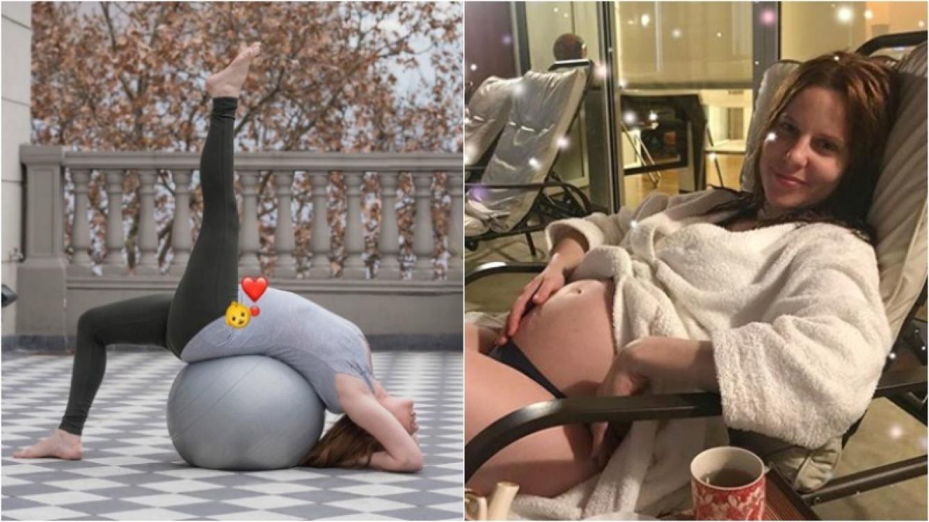 """Agustina Kämpfer y su foto súper tierna haciendo yoga embarazada de 6 meses: """"¿Conectamos?"""" Foto: Instagram"""