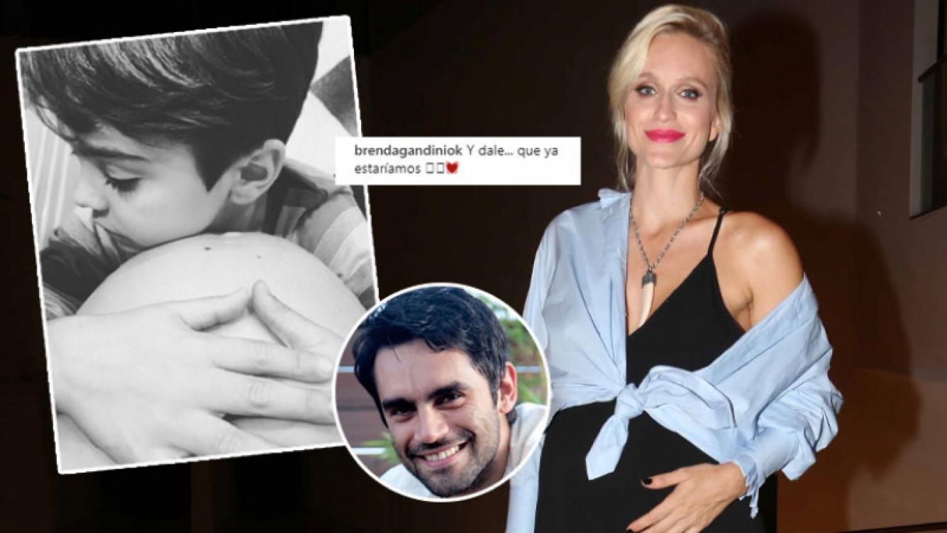 La foto súper tierna del hijo de Brenda Gandini y Gonzalo Heredia (Foto: Instagram y Ciudad)