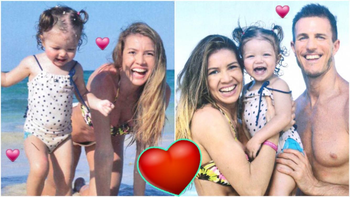 Las vacaciones familiares de Dallys Ferreira y Nicolás Sporleder con su hija en Punta Cana (Fotos: revista Gente)