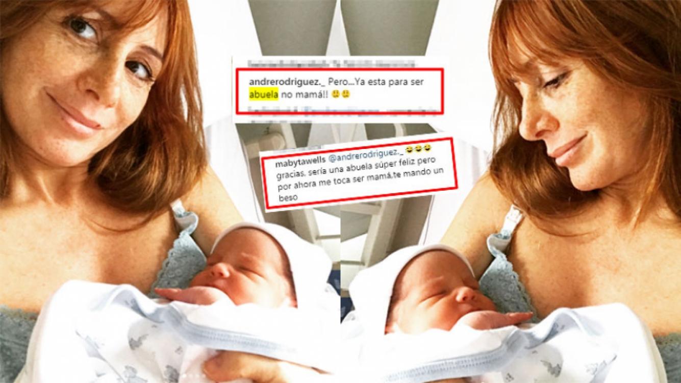 Maby Wells no se quedó callada ante el desubicado comentario de una seguidora. (Fotos: Instagram)
