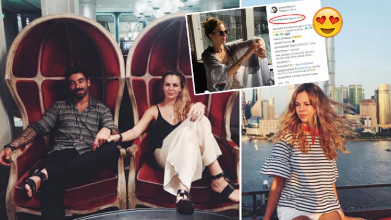Pocho Lavezzi y Yanina Screpante, cómplices y enamorados en Shanghai (Foto: Instagram)