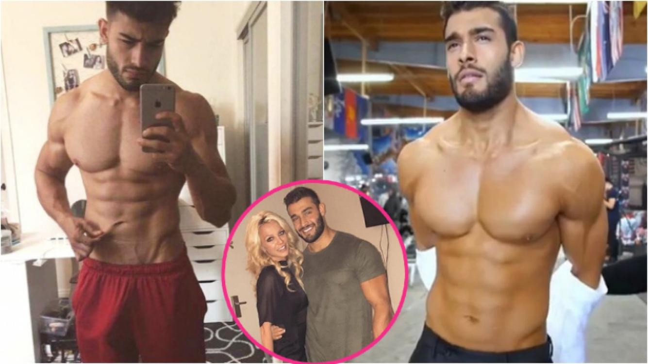 La foto indiscreta (¡y ultra hot!) de Sam Asghari, el novio de Britney Spears que se viralizó en las redes. Foto: Twitter/ Instagram