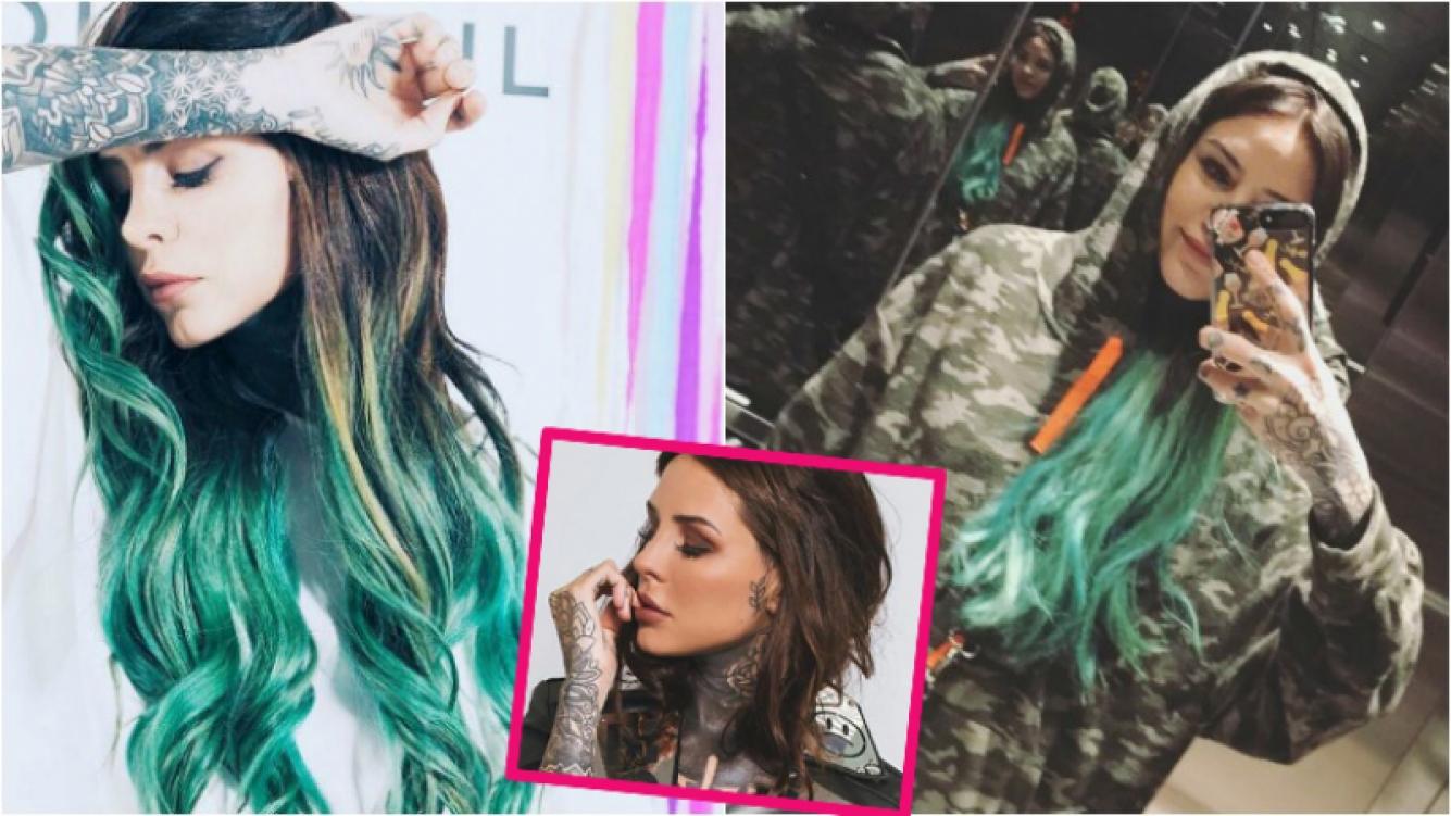 "Cande Tinelli renovó su cabellera con un radical ""azul caribeño"". Foto: Instagram"