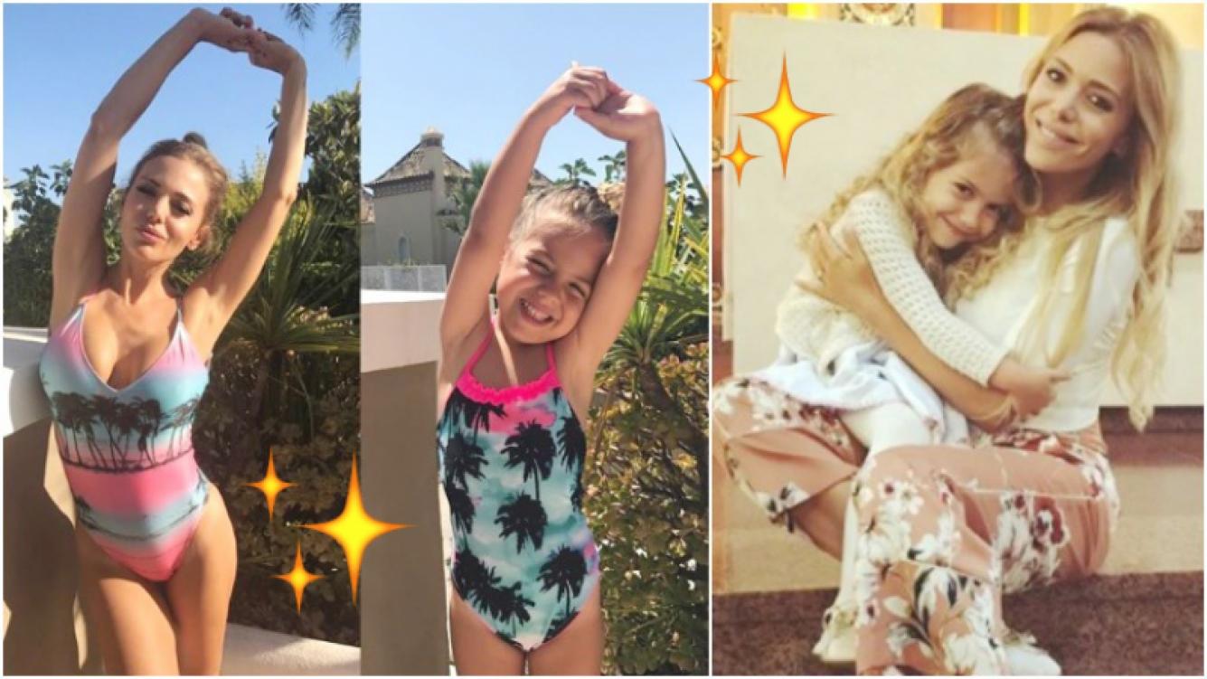 La tierna foto de Evangelina Anderson con su hija... ¡posando de la misma manera! (Fotos: Instagram)