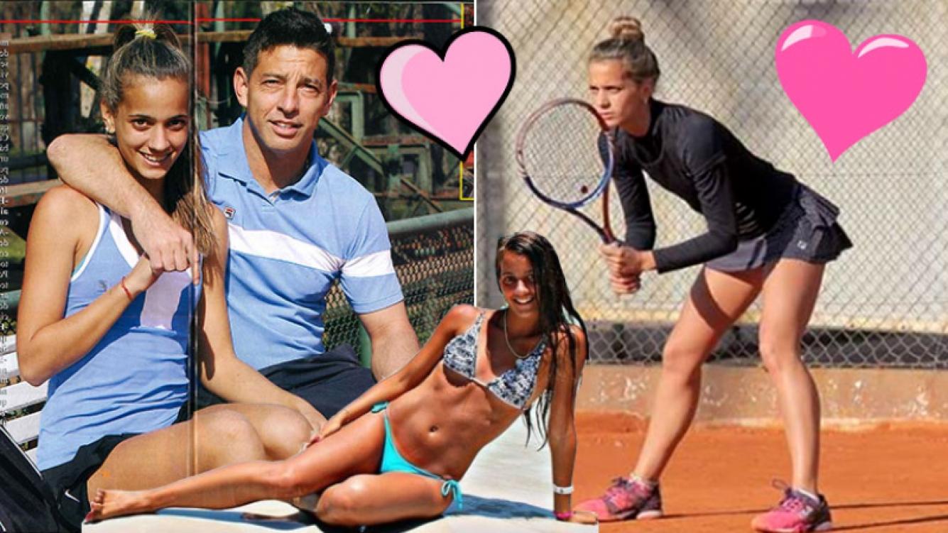 El Chino D'Angelo de ShowMatch y su romance con una joven tenista, 24 años menor. (Foto: revista Pronto e Instagram)