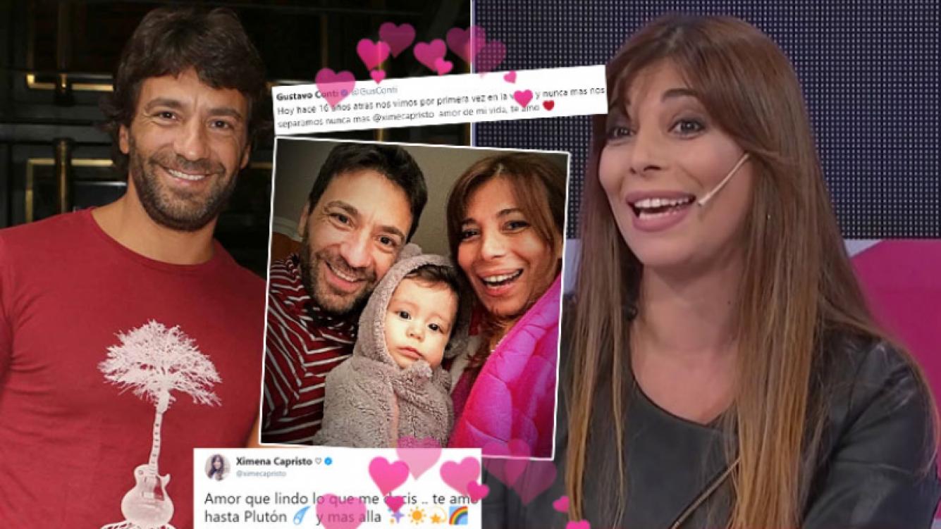 Los tweets súper románticos entre Gustavo Conti y Ximena Capristo