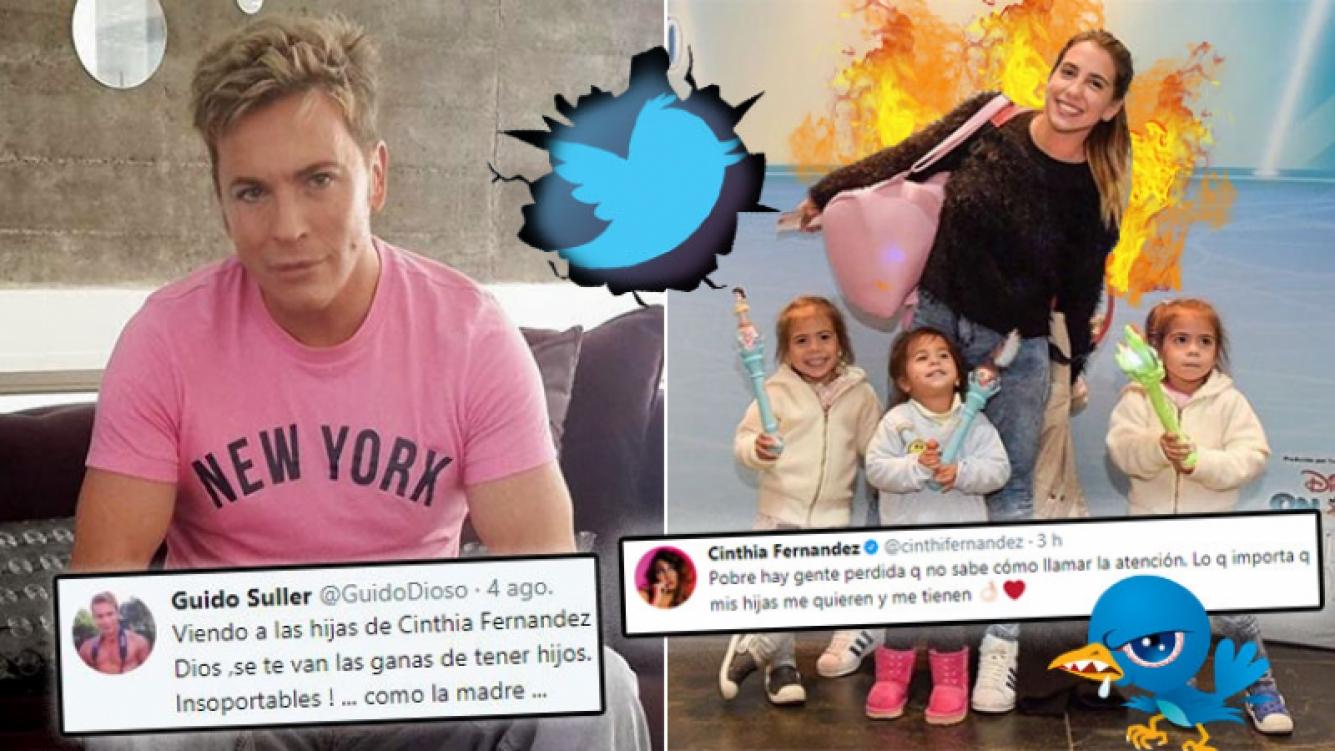 Repudiable tweet de Guido Süller sobre las hijas de Cinthia Fernández