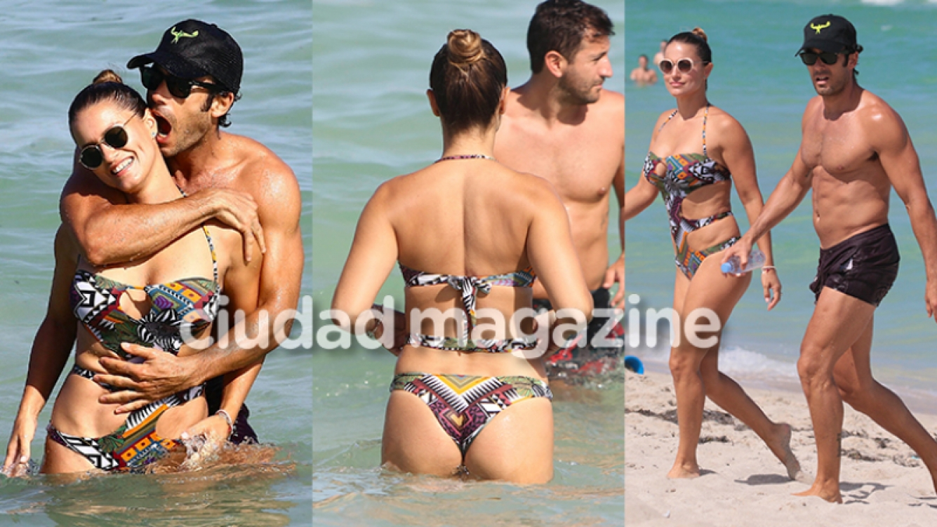 Lola Ponce y Aarón Díaz, enamorados en el mar de Miami (Fotos: GrosbyGroup).