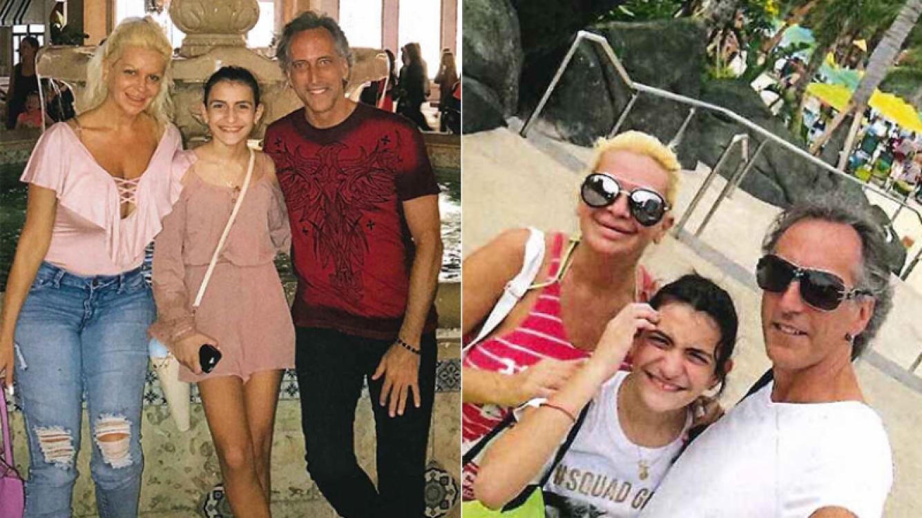 El mago Emanuel y Paula Volpe viajaron con su hija a Orlando (Foto: revista Caras)