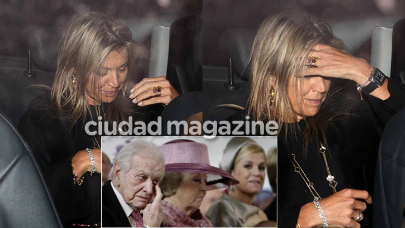 Máxima Zorreguieta, dolida por la muerte de su padre (Fotos: Movilpress y AFP).