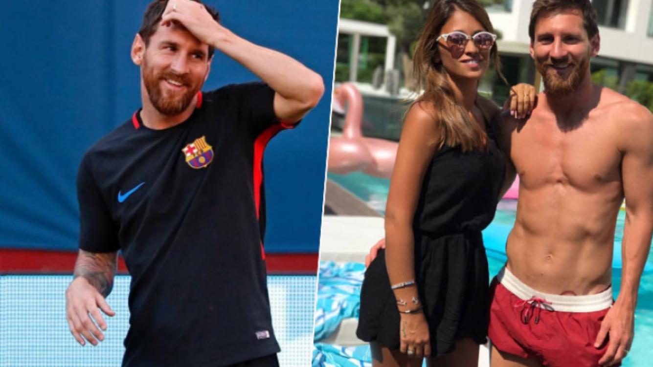 Lionel Messi y una foto veraniega junto a Antonela Roccuzzo