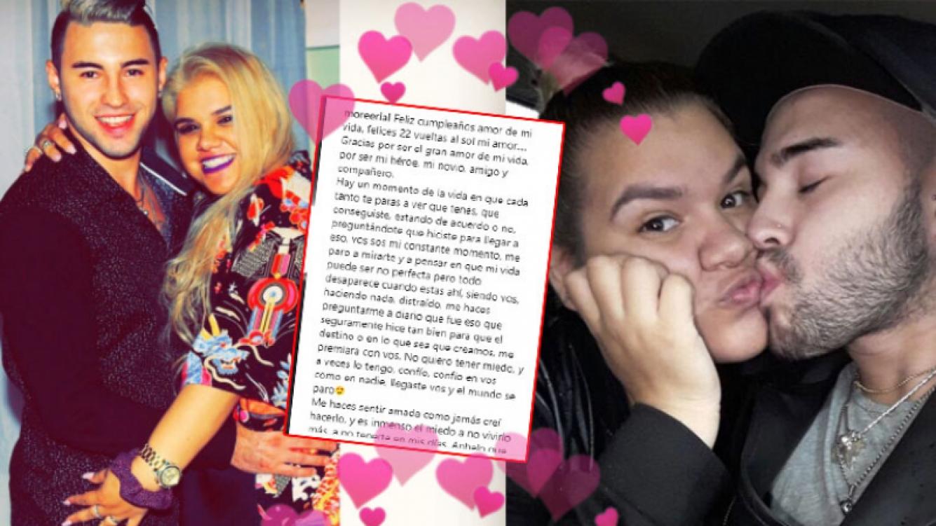 La profunda carta de amor de Morena Rial a su novio en el día de su cumpleaños