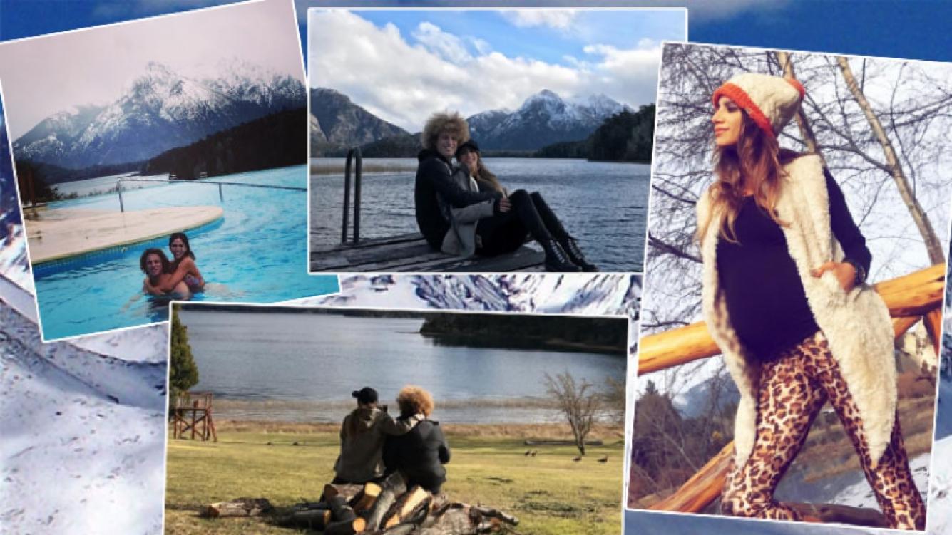 El álbum romántico de Rulo y Gabriela Sari en Bariloche