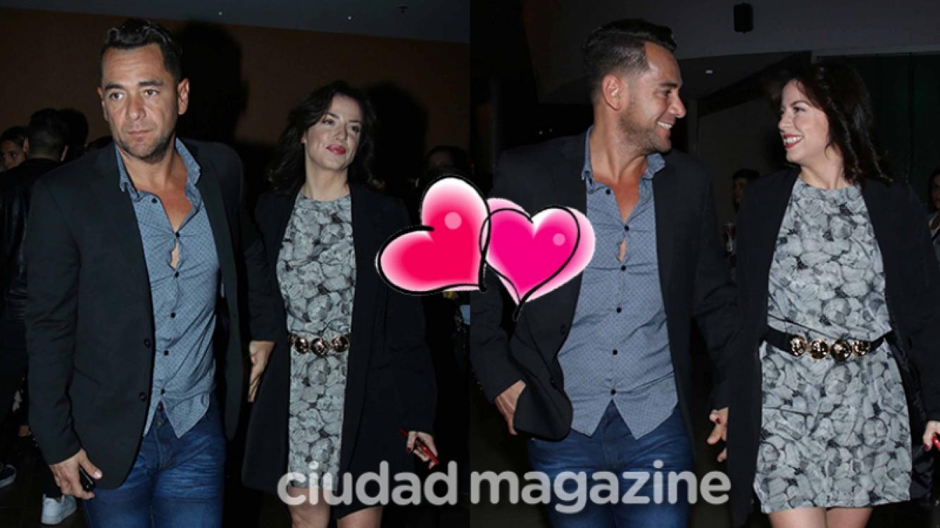 Mercedes Funes se mostró enamorada junto a Cecilio Flemati (Fotos: Movilpress).