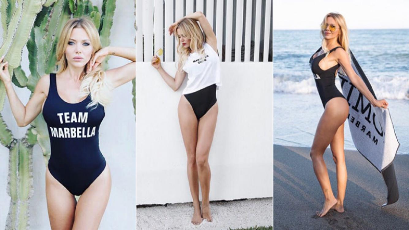 La sensual campaña de fotos de Evangelina Anderson en Marbella