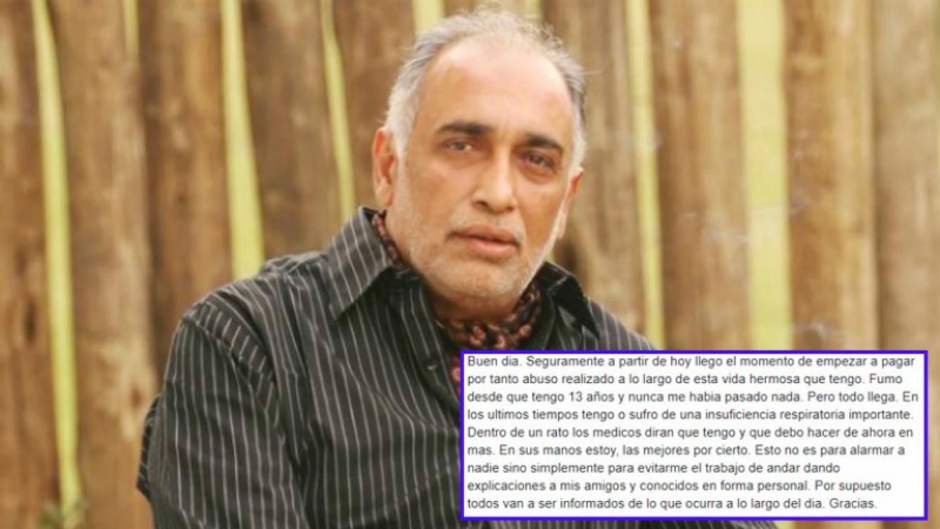 La conmovedora carta de Oscar González Oro hablando de su salud