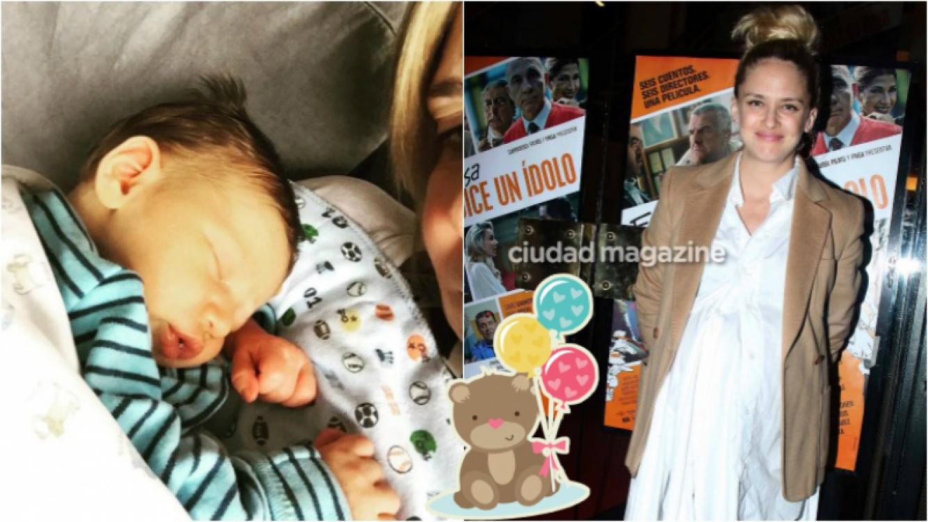 La primera foto de Río, el hijo recién nacido de Leonora Balcarce. Foto: Ciudad/ Instagram