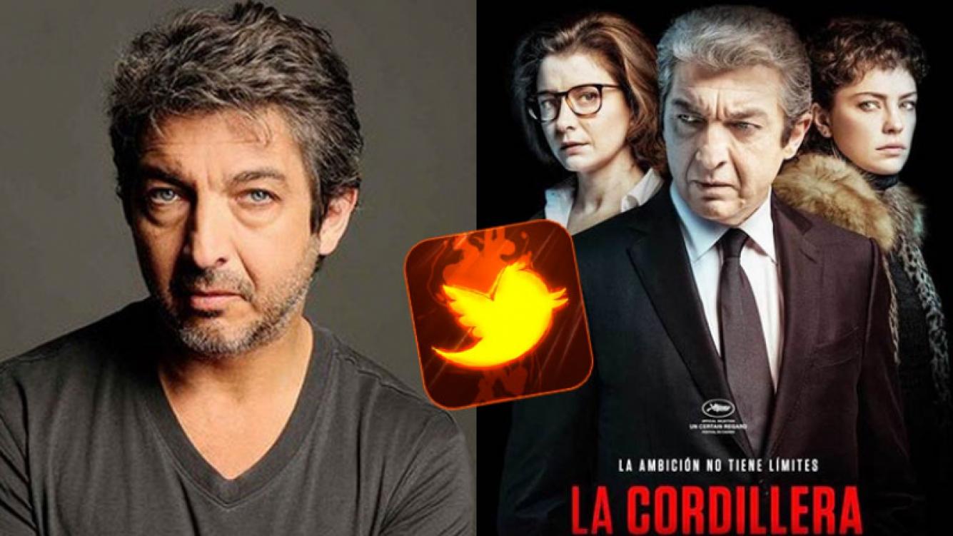 Ricardo Darín, molesto por las críticas en Twitter a La Cordillera.