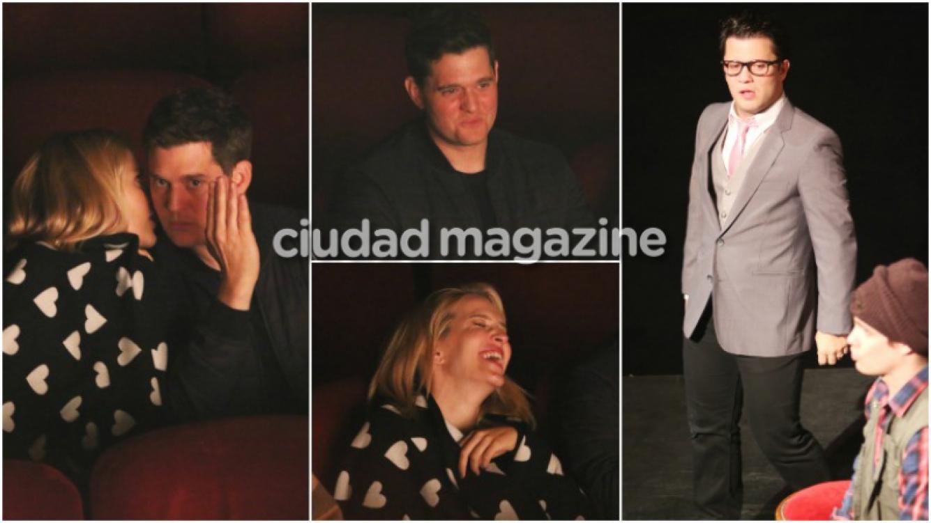 Luisana Lopilato y Michael Bublé fueron a ver a Darío al teatro (Fotos: Movilpress)