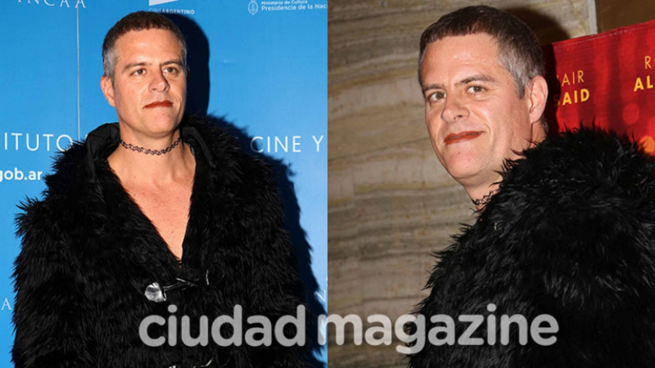 Mike Amigorena y un look súper llamativo en el estreno de Mario on tour (Fotos: Movilpress).