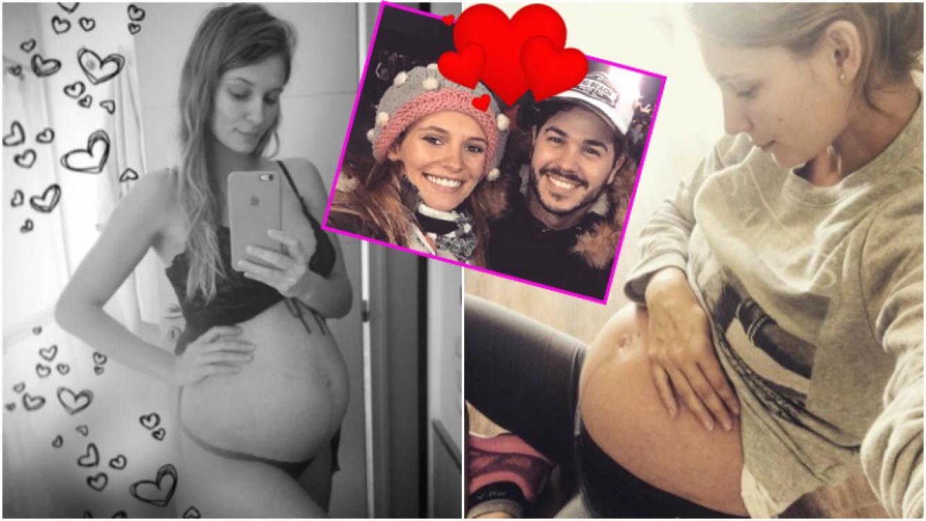 La foto tierna (¡y súper sexy!) de Betiana Wolenberg, la novia de Nicolás Magaldi, embarazada de 29 semanas (Fotos: Instagram)