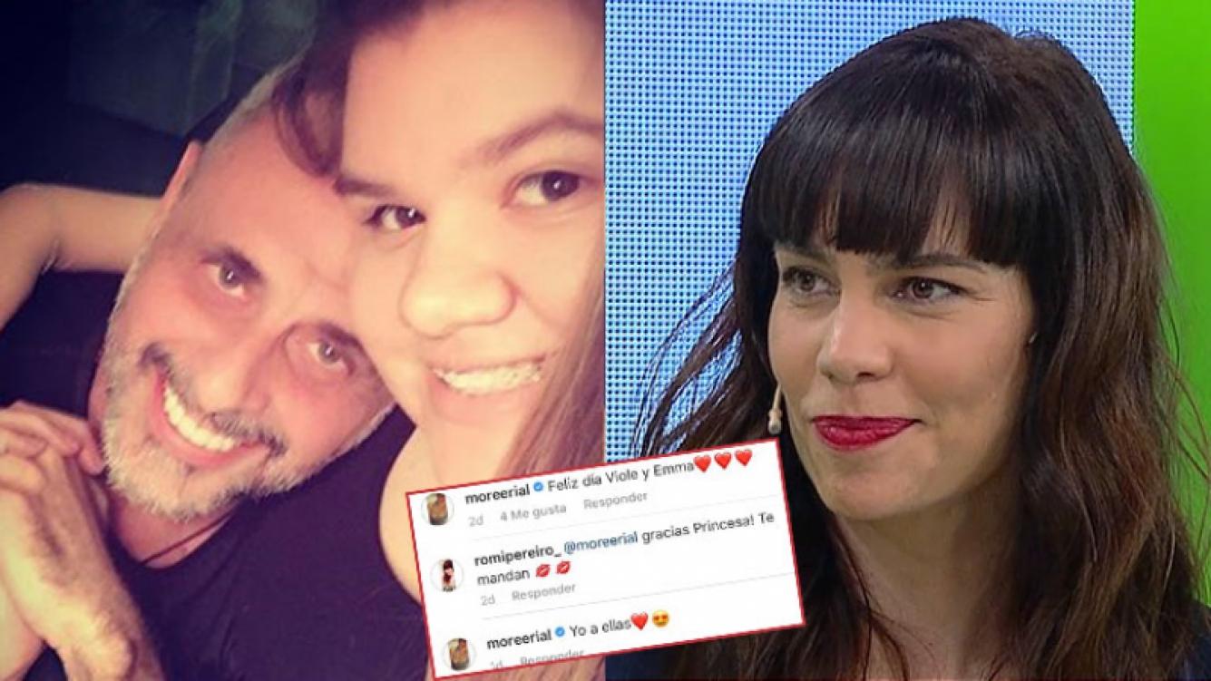 Morena Rial, feliz por el noviazgo de su papá y Romina Pereiro.