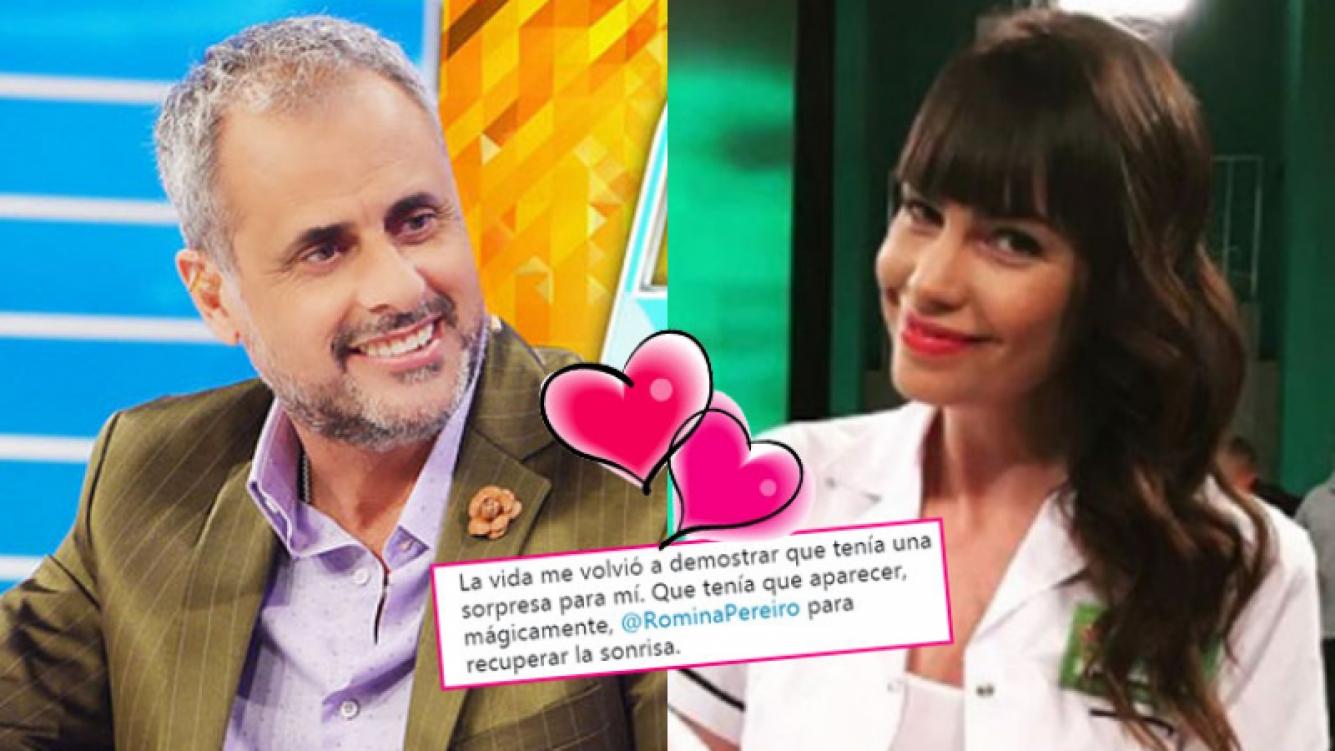 Jorge Rial y Romina Pereiro, enamorados.