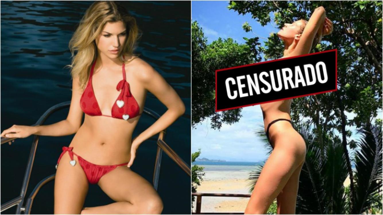 ¡Lluvia de corazones! Chloé Bello al rojo vivo en Instagram: mirá su topless en Tailandia. Foto: Instagram