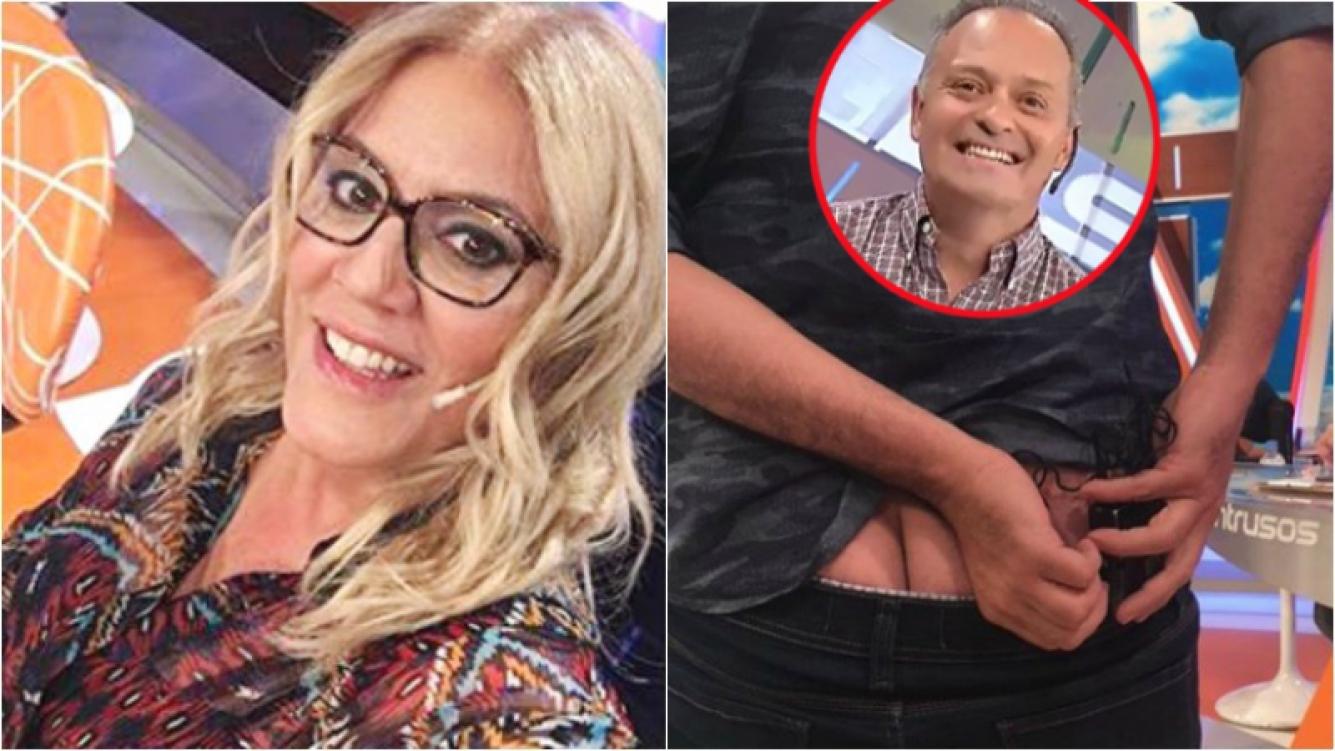 ¡Lo mandó al frente! Mirá la foto indiscreta que publicó Débora D'Amato de uno de sus compañeros de Intrusos. Foto: Captura