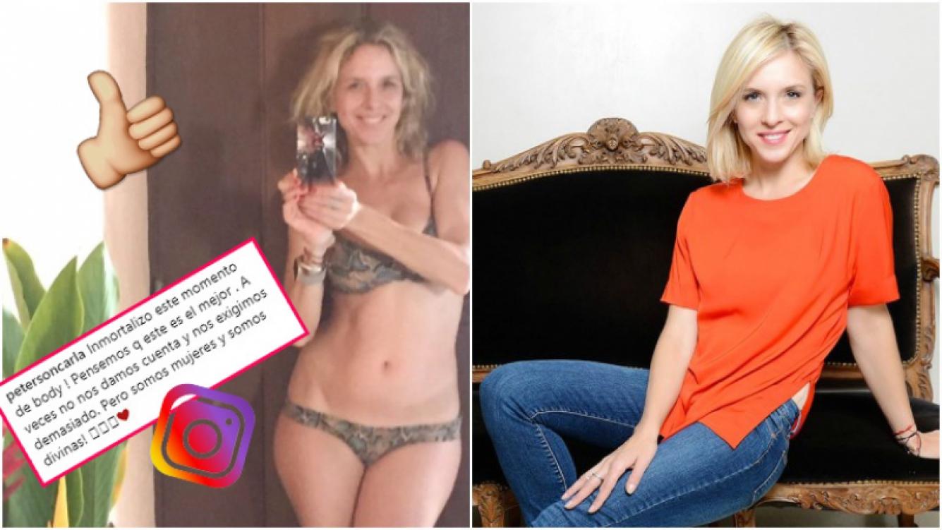 La foto de Carla Peterson en bikini y sin una gota de maquillaje (Fotos: Instagram y Ciudad Magazine)