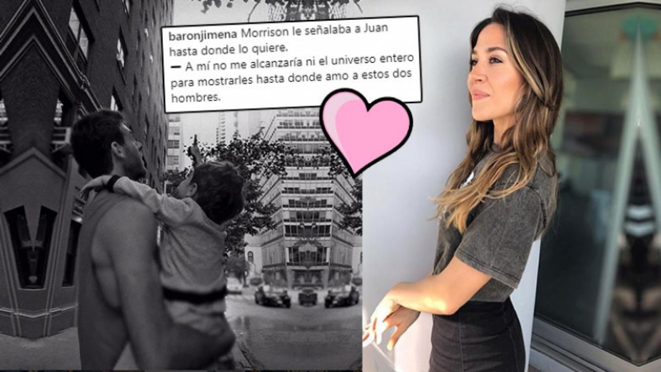 Jimena Barón y la tierna foto de Momo con Del Potro.