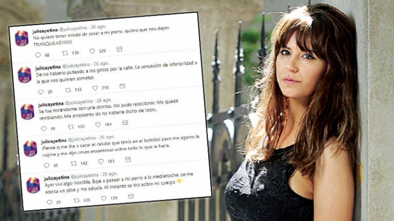 Estremecedor relato de Julieta Cayetina, abusada en la calle por un hombre