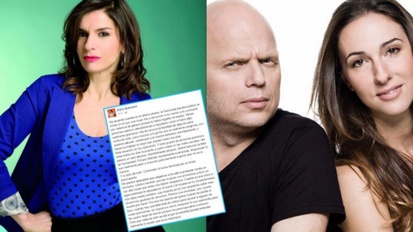 Dalia Gutmann defendió el programa de su marido, Sebastián Wainraich.