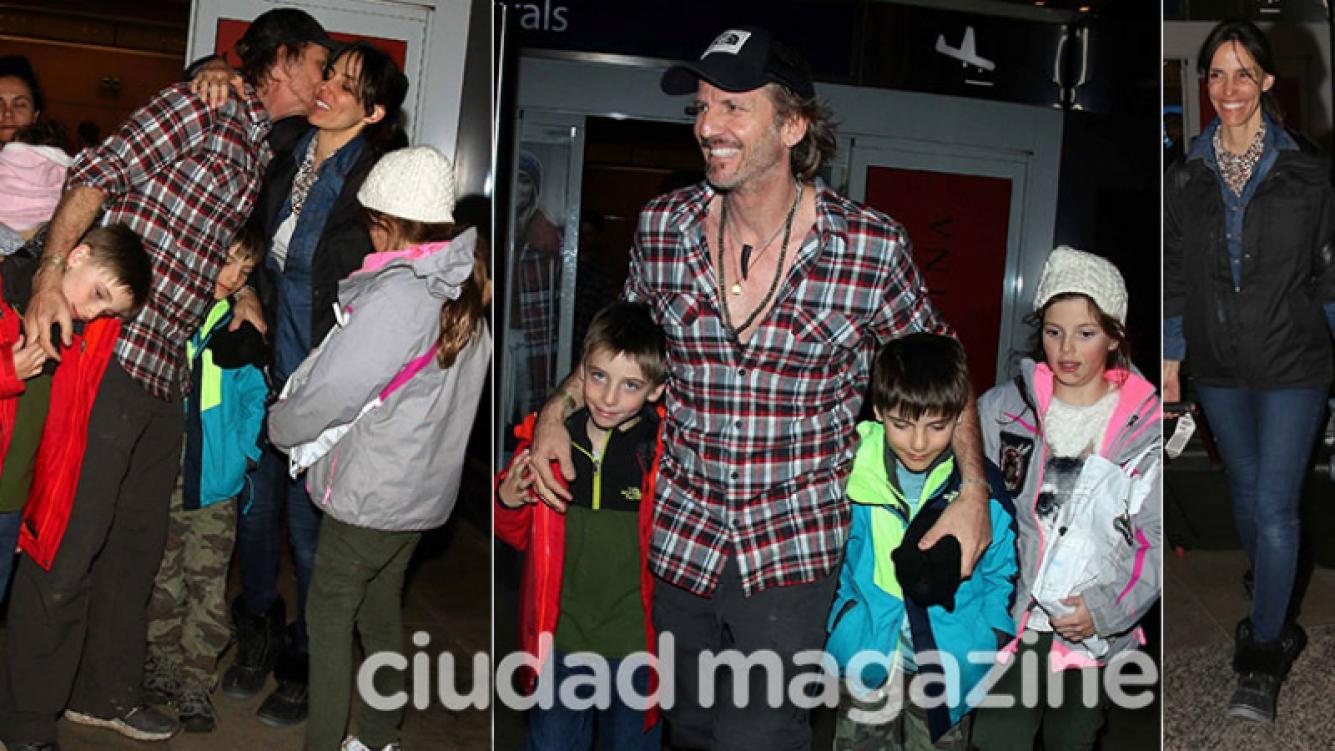 Facundo Arana, María Susini y sus hermosos hijos (Fotos: Movilpress).