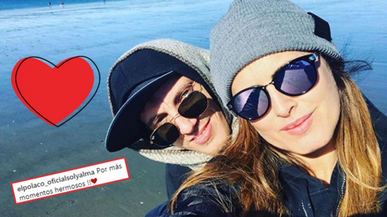 El Polaco y Silvina Luna, enamorados en Puerto Madryn (Fotos: Instagram).