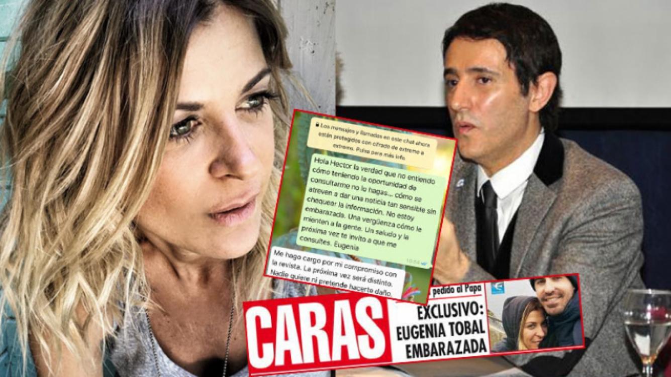 Eugenia Tobal, enojada con la revista Caras por afirmar que está embarazada.
