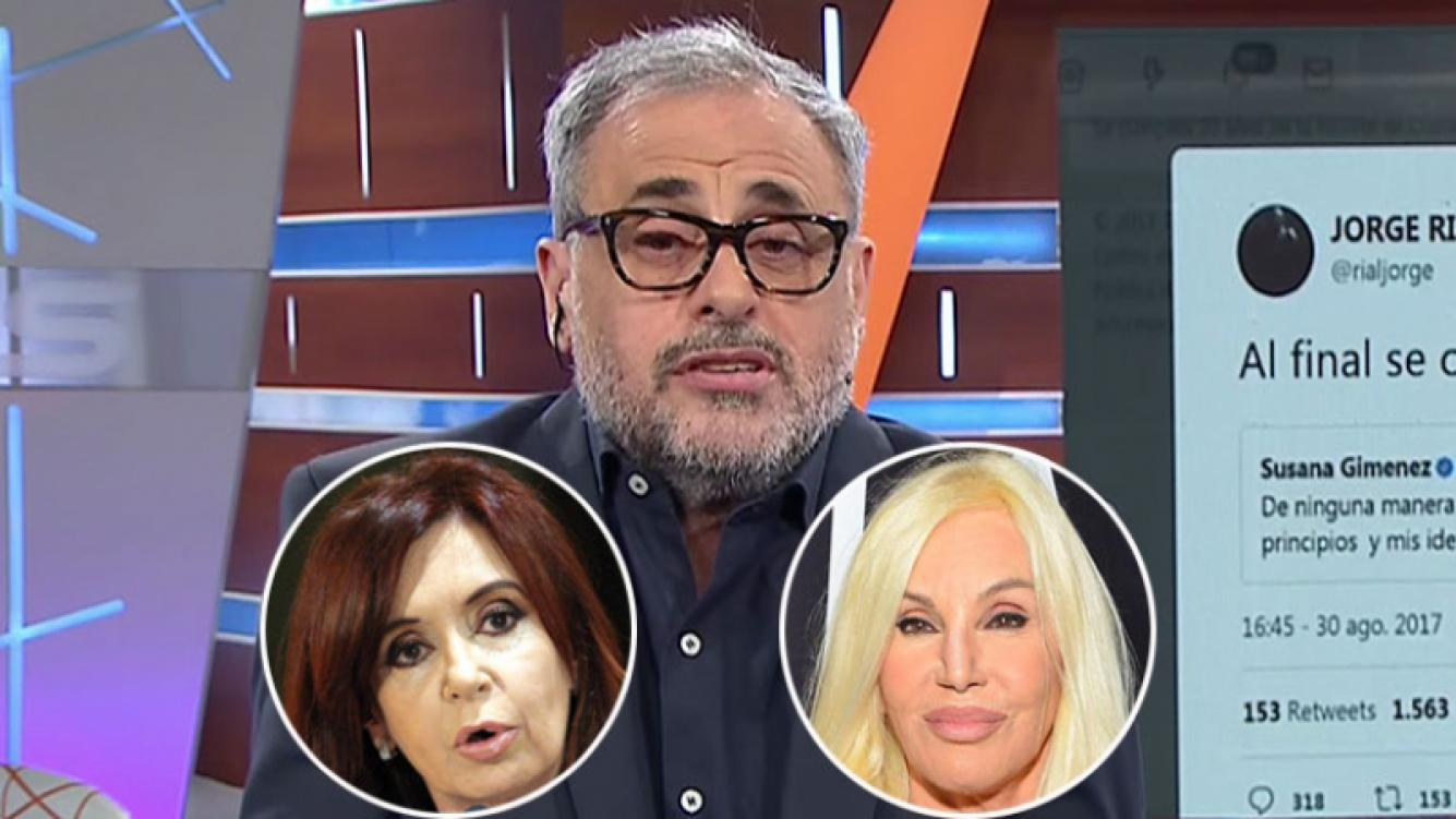 """Jorge Rial explicó por qué se frustró la entrevista de Susana a Cristina: """"Fue porque lo contamos"""""""