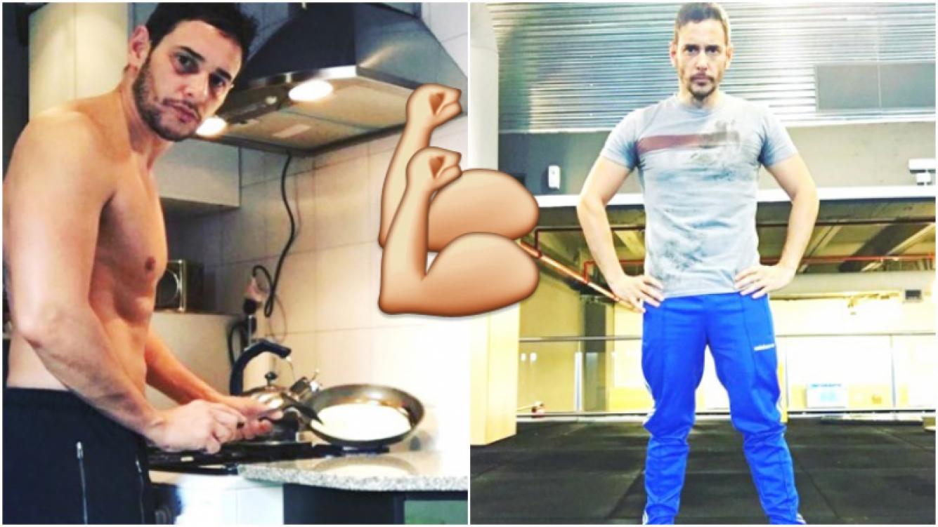 Rodrigo Lussich lució los resultados de su exigente rutina de ejercicios (Fotos: Instagram)
